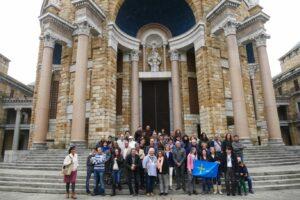 En la Universidad Laboral, foto de grupo